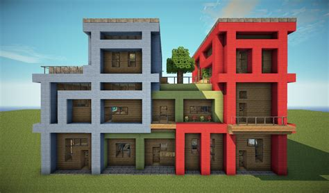 how to build a building tetris apartments modern build minecraft project