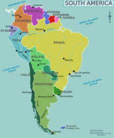 south america map political south america political map