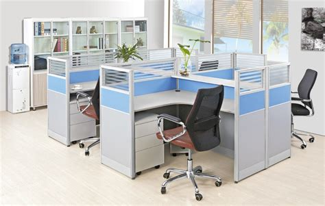 Office Desk Divider Fashion Design Office Partition Glass Wall Modern Office Desk Dividers Fancy 4 Seater Office