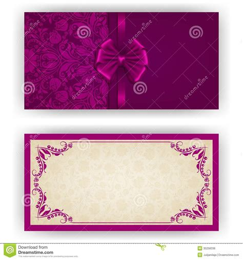 luxury invitation card template vector template for luxury invitation stock