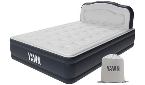 buy yawn luxury raised air bed  headboard double