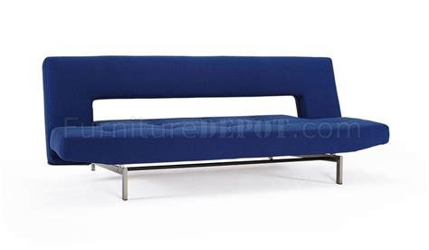 Wing Sofa Bed In Soft Sapphire Fabric By Innovation W Wing Sofa Bed
