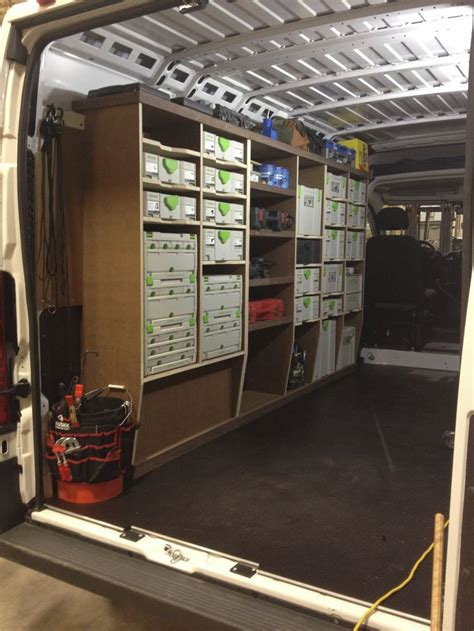 ram promaster racking project work trucks vans