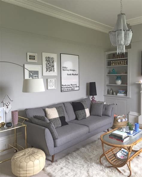 wall color   grey sofa  wall colors
