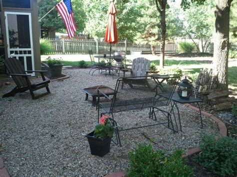 backyard gravel ideas 36 best images about gravel patio ideas on pinterest