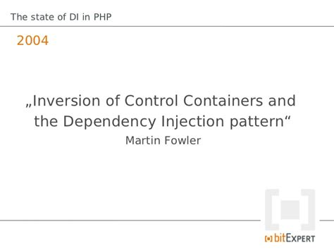 visitor pattern dependency injection the state of di in php phpbnl12