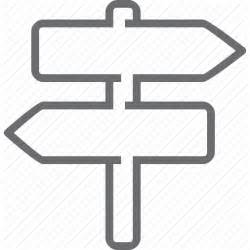 Road Sign Outlines by Direction Road Road Sign Sign Transport Two Way Icon Icon Search Engine