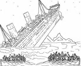 Shipwreck Coloring Page Printable Titanic Pages For Kids  sketch template