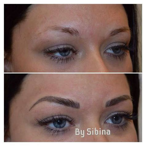 cosmetic eyebrow tattoo semi permanent makeup tattooing by trudy trinh in toronto