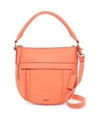 Fssil Molly Satchel 618btc 24 fossil molly small leather hobo lyst
