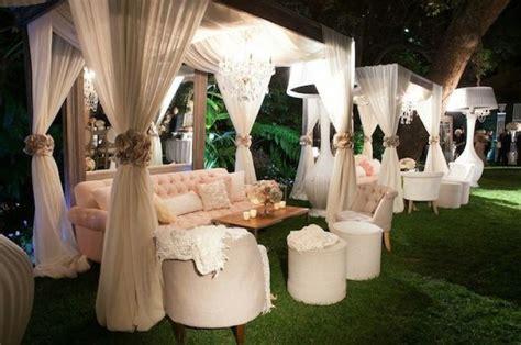 Cabana seating sets   Outdoor Wedding Inspiration