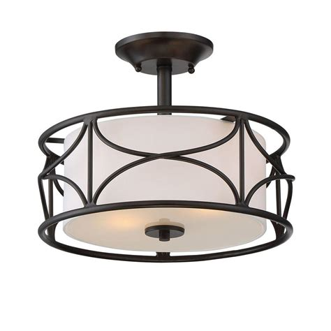 Inside Ceiling Lights Designers Avara 2 Light Rubbed Bronze Interior Semi Flush Mount 88611 Orb The