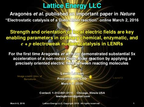high energy electric llc lattice energy llc electroweak nuclear catalysis and