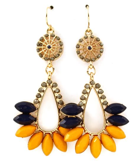 Fashion Earrings E21256 Yellow yellow marquise shape drop earrings s fashion earrings