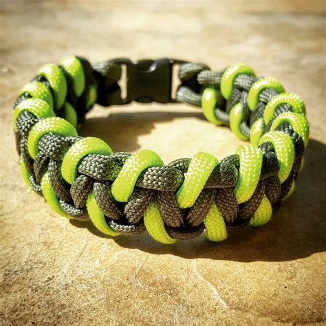 paracord od green od green and neon green paracord bracelet