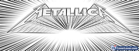 metallica drawing logo  facebook cover maker