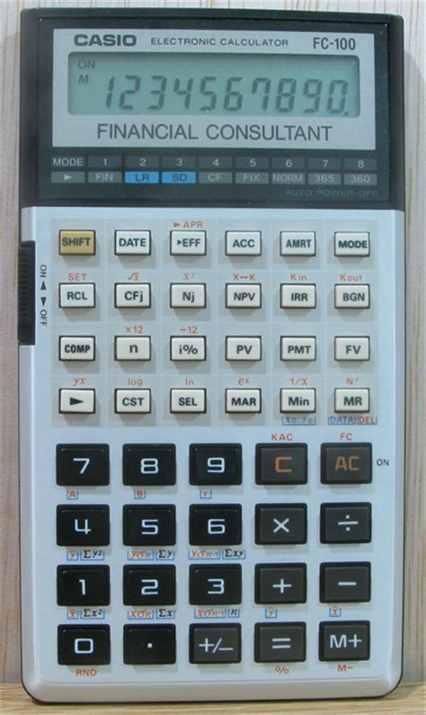 Casio Financial Calculator Fc 100v casio fc 100 a