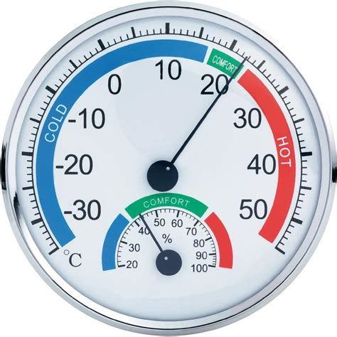 th101e analogue thermometer hygrometer comfortmeter from
