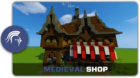 how to build a shop minecraft building tutorial how to build a medieval