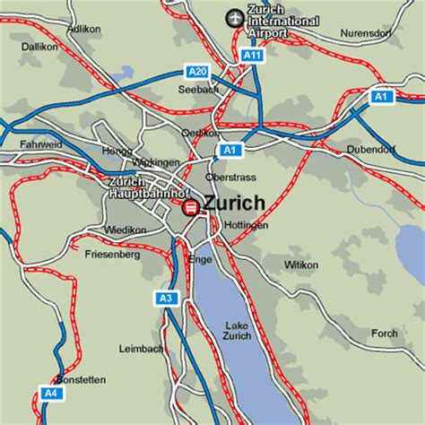 map stations zurich rail maps and stations from european rail guide