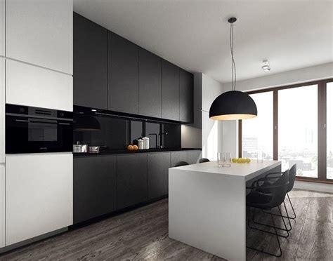 ambiente de contrastes en blanco  negro cocinas  estilo
