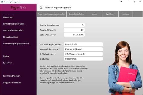 Bewerbungsmappe Pdf Bewerbungssoftware Software Entwicklung