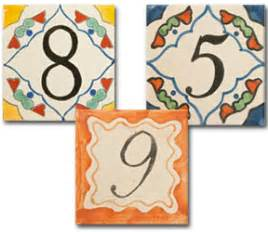 Mexican Handcrafted Tile Inc - mexican handcrafted tile inc talavera tile house numbers
