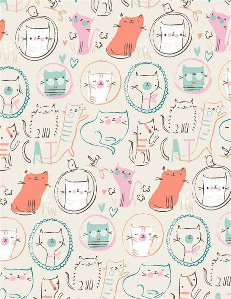 cute pattern cats background cat cute kawaii kitty pattern peace