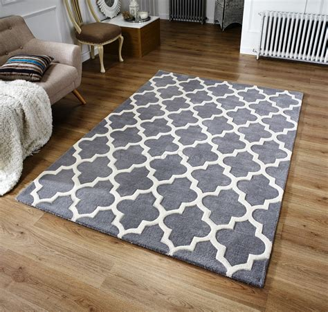 grey pattern rug uk arabesque moroccan pattern wool rug grey