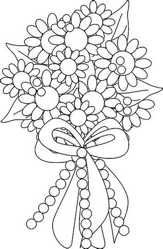 Flower Bouquet Coloring Page Flickr Photo Sharing Flower Bouquet Coloring Pages