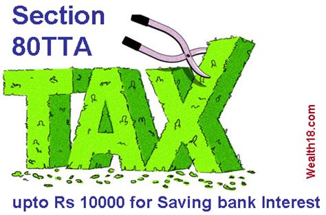 Section 80tta Tax Deduction For Interest On Savings Bank