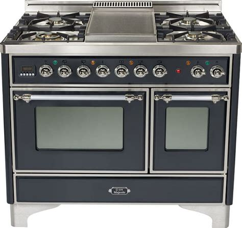 Luxury Cooktops Ilve Umd100fmpmx 40 Inch Traditional Style Dual Fuel Range