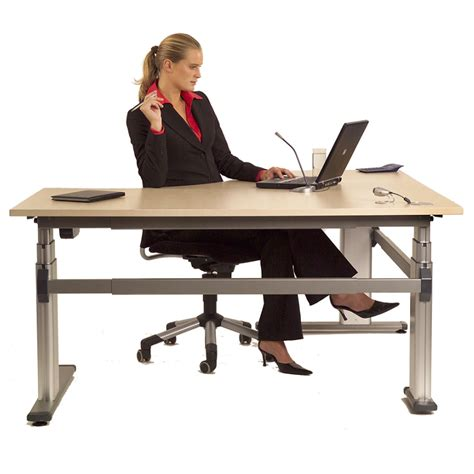 Height Adjustable Office Desk by Acti Height Adjustable Office Desk 2100 X 750mm