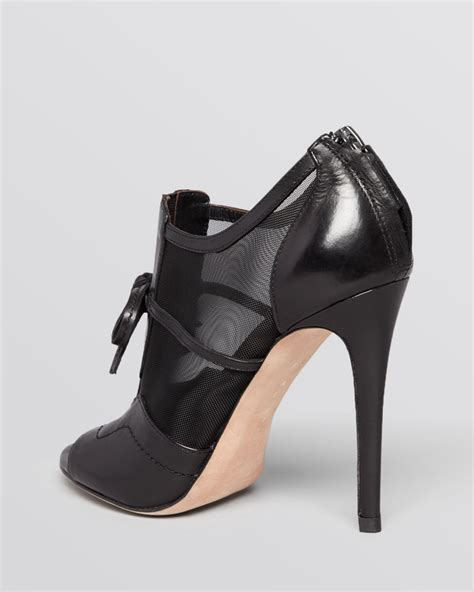 black open toe high heels elie tahari open toe booties odean mesh high heel in black