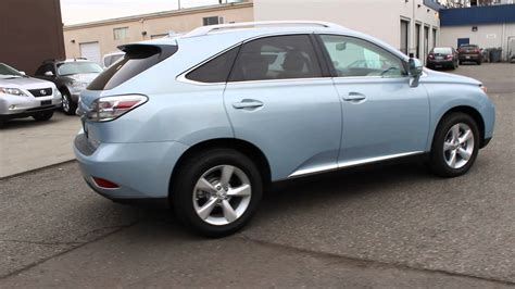 lexus light blue 2010 lexus rx350 cerulean blue metallic stock 045793