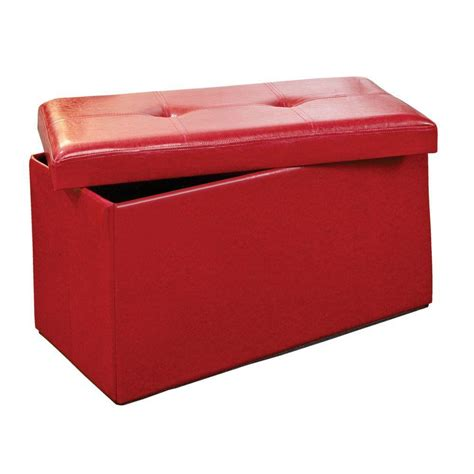 simplify storage ottoman simplify red storage ottoman f 0630 red the home depot