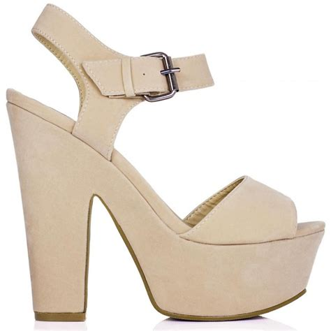 buy shelly block heel buckle platform sandal shoes