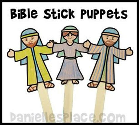 cut out character template free stick puppet printable pattern for sunday school from