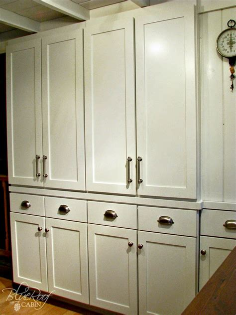 In Wall Pantry by Blue Roof Cabin Diy Pantry Cabinet Using Custom Cabinet Doors