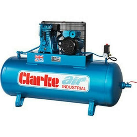 xet19 clarke industrial electric air compressor 18cfm air displacement ebay