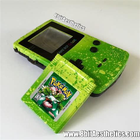 green gameboy color green splatter frontlit gameboy color with