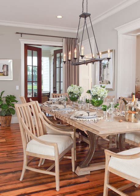 Lowcountry Cottage Farmhouse Dining Room Lighting