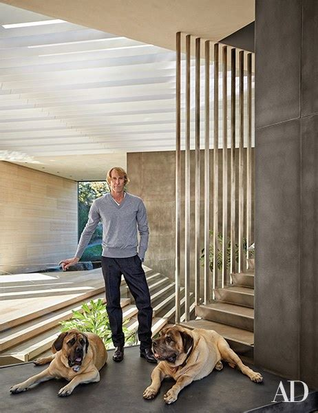 director michael bays modern  story home  california  architectural digest
