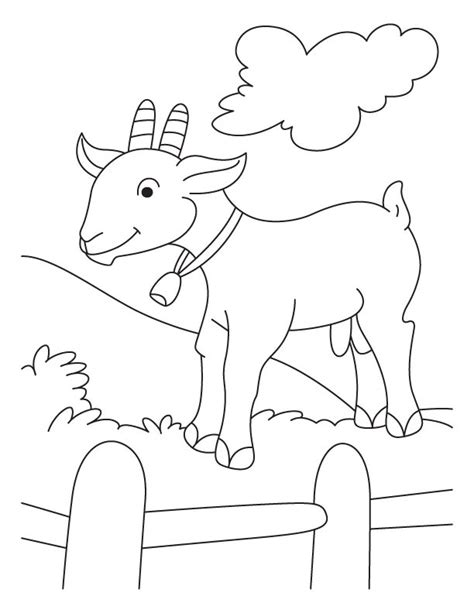 free coloring pages of goats free cute goat coloring pages