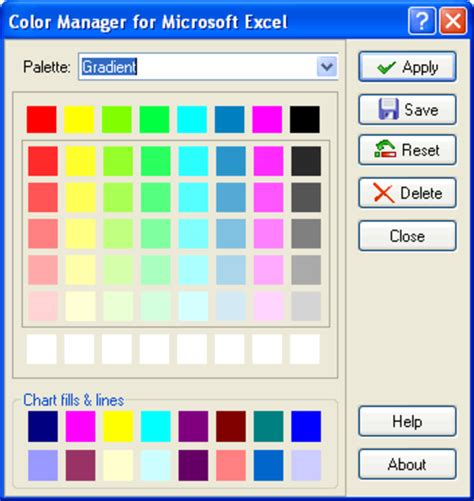 excel color palette reisakzeiprur color manager for microsoft excel