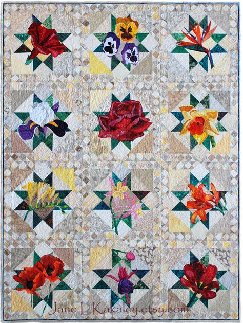 pattern quilts art quilt pattern all twelve patterns pdf floral applique
