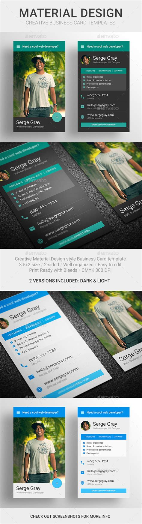material design business card template free made material design business card template graphicriver
