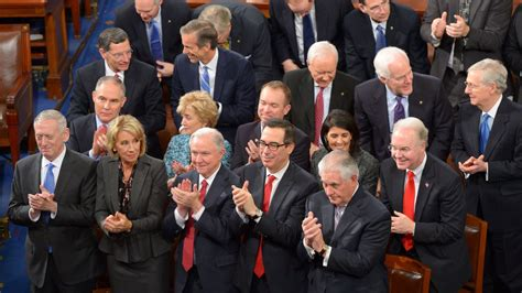 donald trump s cabinet members organizing to hit trump s corporate cabinet and allies