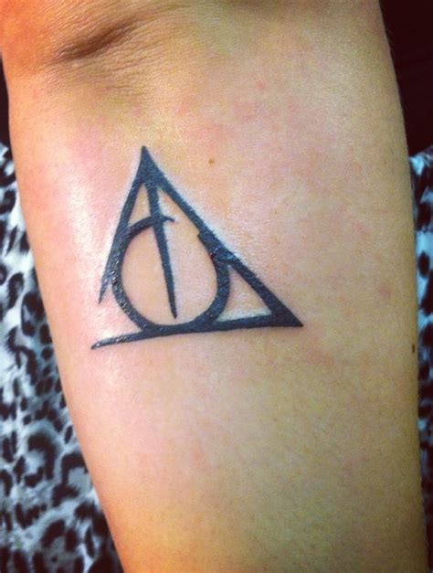 deathly hallows symbol tattoo pin by deist on ღinkღ