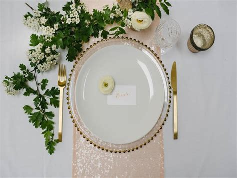 blush sequin table runner by magpie decor
